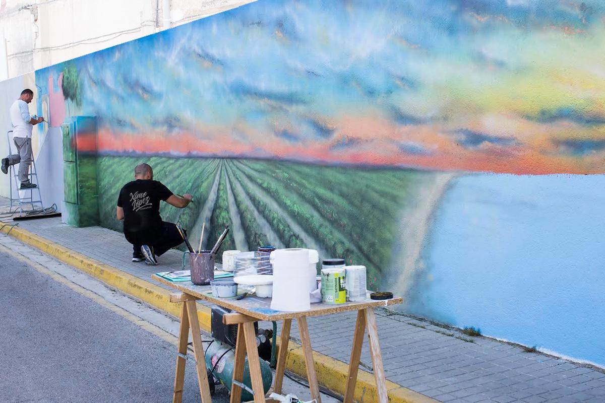Ximo López diseño murales pintados