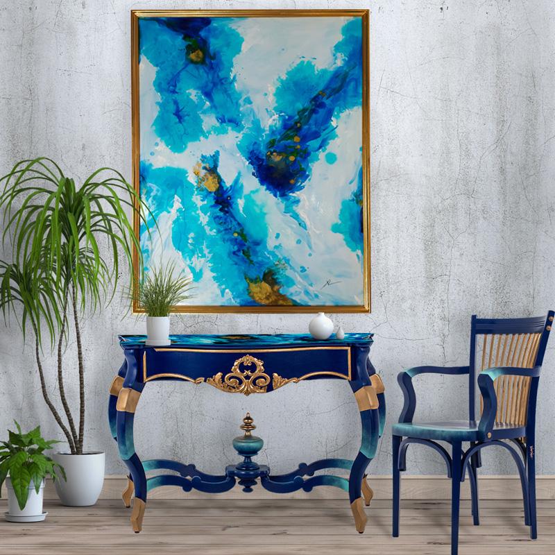 mueble restaurado y decorado