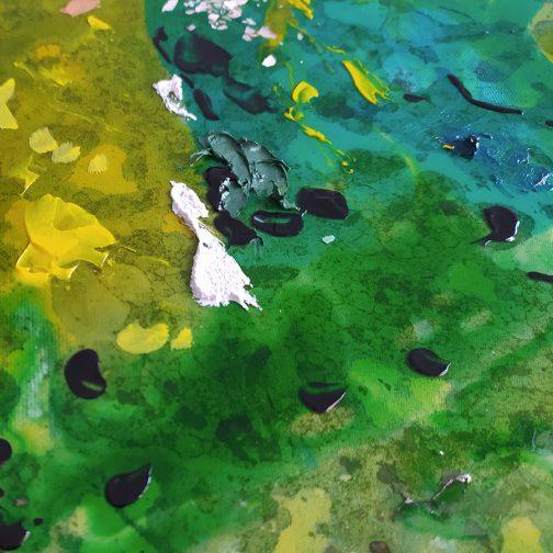 Cuadro abstracto girasoles
