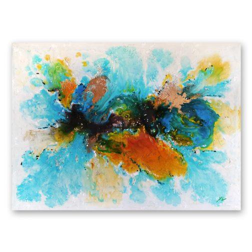 Cuadro pintado abstracto